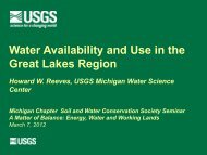 Water Availability and Use in the Great Lakes Region - Michigan ...