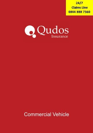 Qudos insurance policy booklet commercial vehicles ... - Adrian Flux