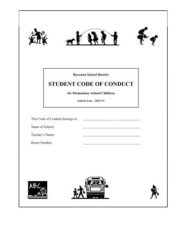 STUDENT CODE OF CONDUCT - the Ravenna School District