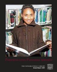 ENRICHING LIVES, EXPANDING HORIZONS - Newark Public Library