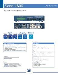 Scan 1600 SSV1600 Technical Datasheet - 29/05 ... - Analog Way