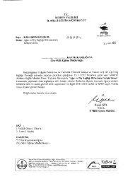 Yazı ve Ekler - Mersin İl Milli Eğitim Müdürlüğü - Milli Eğitim Bakanlığı