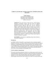 E-Prints and the Open Archive Initiative - Virginia Institute of Marine ...