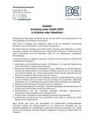 Angebot Gründung einer GmbH (OOO) in ... - AHK Zentralasien