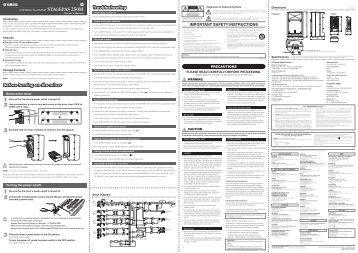 STAGEPAS 250M Owner's Manual