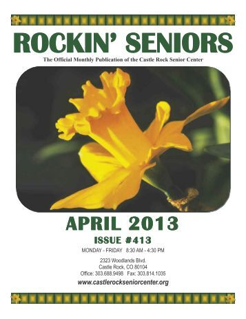 April Newsletter - Castle Rock Senior Center