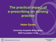 The practical impact of e-prescribing on nursing practice - NHS ...