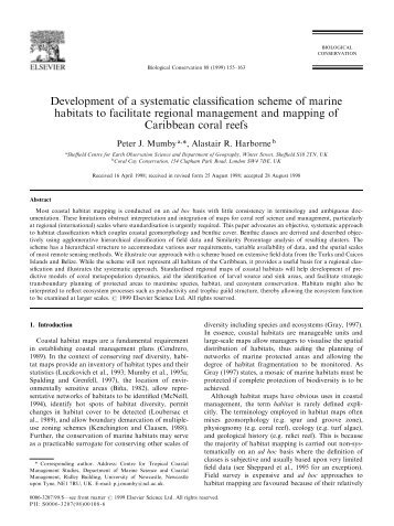 Development of a systematic classification scheme of marine ...