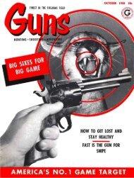 GUNS Magazine October 1958 - Jeffersonian