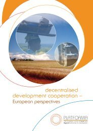 decentralised development cooperation - Euro African for Partnership