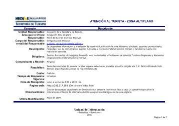 servicios zona altiplano