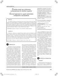 Conduta atual nas síndromes compressivas do membro superior ...