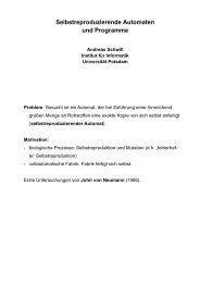 Das Rekursionstheorem und seine Anwendung auf die ...