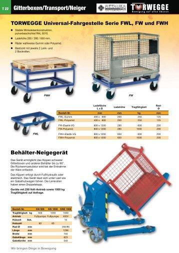 Gitterboxen/Transport/Neiger
