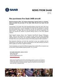 NEWS FROM SAAB