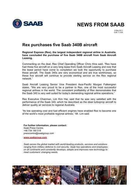 NEWS FROM SAAB