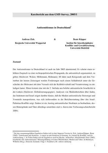 Antisemitismus in Deutschland - Honestly Concerned