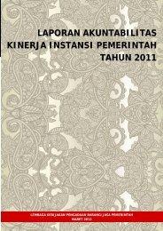 laporan akuntabilitas kinerja instansi pemerintah tahun 2011 - LKPP