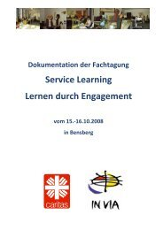 Service Learning Lernen durch Engagement - Ehrenamt