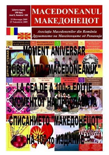 Ziar 100 noiembrie 2009.pub - asociatia macedonenilor din romania