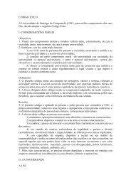 CÓDIGO ÉTICO A Universidade de Santiago de Compostela (USC ...