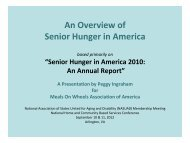 Senior Hunger in America 2010: An Annual Report - National ...