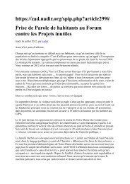 https://zad.nadir.org/spip.php?article299# Prise de Parole de ...