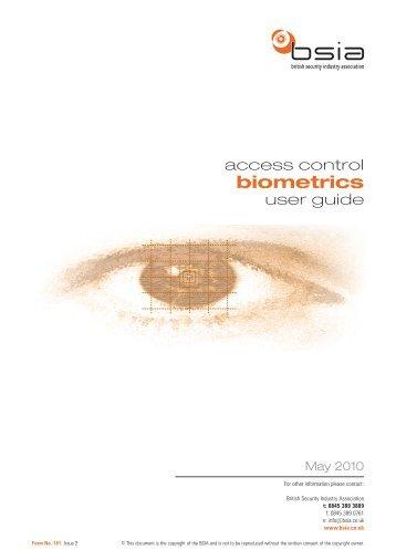 biometrics - British Security Industry Association