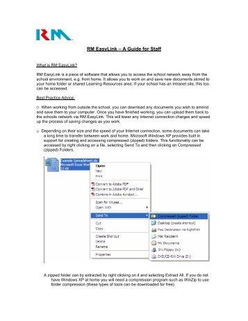 RM EasyLink – A Guide for Staff - RM.com