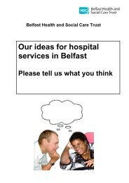 Easy Read Version - Summary Document - Belfast Health and ...