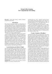 Textual Affect Sensing for Computational Advertising