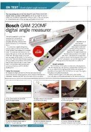 0N TEST Bosch digital angle measurer - D & M Tools