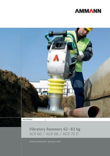 Vibratory Rammers 62– 83 kg ACR 60 / ACR 68 / ACR ... - SimmaRent