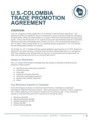 Us Colombia Trade Promotion Agreement Gallery Agreement Letter Format