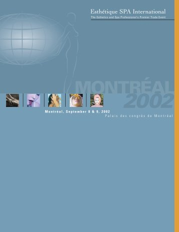 Montreal 2002 Program (english) - Esthétique Spa International