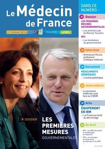 Médecin de France n°1189 - CSMF