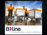 B-Line: Sustainable Urban Delivery - Social Enterprise Associates