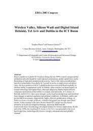 ERSA 2003 Congress Wireless Valley, Silicon Wadi and Digital ...