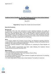 July 2012 - agenda item 6 - The Royal Marsden