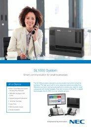 NEC SL1000 adatlap