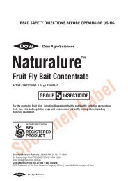Naturalure Fruit Fly Bait Concentrate label - Pest Genie