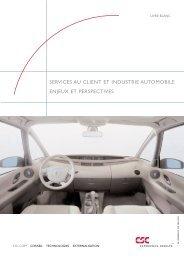 Services au client et industrie automobile - CSC