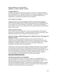 Appendix J - College of Midwives of Ontario