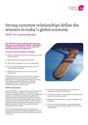 TRI*M for Customer Retention - TNS Canada