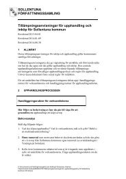 Tillämpningsanvisningar för upphandling - Sollentuna kommun