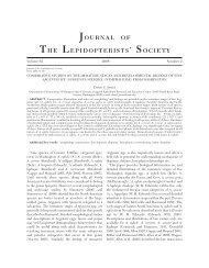 JOURNAL OF THE LEPIDOPTERISTS' SOCIETY - Yale University