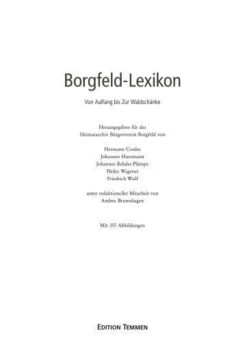 Erste Erwähnungen Borgfelds - Edition Temmen Bremen