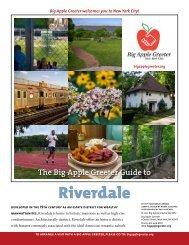 Riverdale Neighborhood Profile - Big Apple Greeter