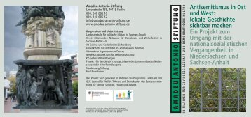Antisemitismus in Ost und West - Amadeu Antonio Stiftung