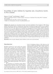 Invasibility of native habitats by Argentine ants, Linepithema humile ...